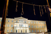 Greek Parliament with Nooses — Stock Photo