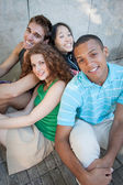 Group of cheerful friends. — Stock Photo