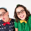 Young nerdy girls — Stock Photo #51007535