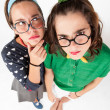 Young nerdy girls — Stock Photo #51007547