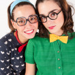 Young nerdy girls — Stock Photo #51007815