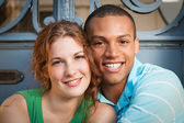 Cute multiracial couple — Stock Photo