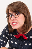 Young nerdy girl. — Stock Photo