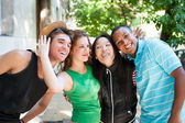 Multi-ethnic group of succesful adults. — Stock Photo