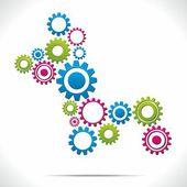 Gear system — Stock Vector