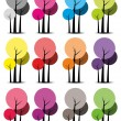 Colorful trees — Stock Vector