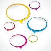 Speech bubbles and dialog balloons — Stock Vector