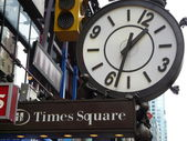 Times Square street shield — Stock Photo