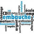 Job search wordcloud - Image vectorielle