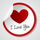 I love you icon — Stock Vector