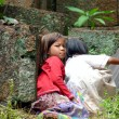 Cambodian young girls — Stock Photo