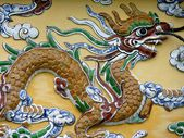 Ornament in Hue Citadel — Stock Photo