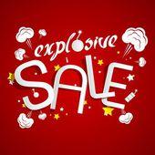 Explosive Sale — Stock Vector
