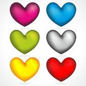 Corazones color mix — Vector de stock