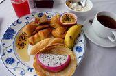 All inclusive hotel breakfast — Stock Photo