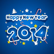 Happy New Year 2014 — Stock Vector #33300397
