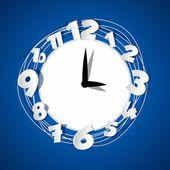 Creative Clock — Stock Vector