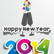 Happy New Year 2014 — Stock Vector #33500789