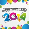 Happy New Year 2014 — Stock Vector