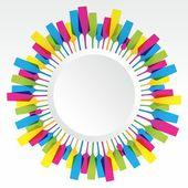 Creative Coloured Mix Champaign Glass — Stock Vector