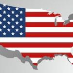 Creative abstract USA map — Vetorial Stock