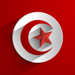 flag of tunisia — Stock Vector