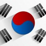 drapeau de la Corée du Sud — Vecteur