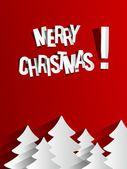 Creative Abstract Merry Christmas Card — Stockvektor