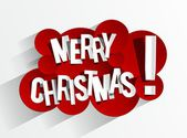 Creative Abstract Merry Christmas Card — Stock Vector