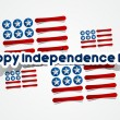 Happy USA Independence Day Card With Abstract Flag — Векторная иллюстрация