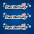 Creative Fast Delivery Banners — Stock Vector