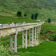 Amazing Bridge In Sapa Mountains — Stock Photo