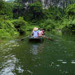 Quiet Ride On Peaceful Tam Coc River — Stock Photo
