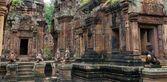 Banteay Srei ruins temple — Stock Photo