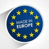 Made In Europe Badge — Stock vektor