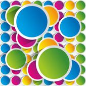 Creative colorful circles background — Stock Vector