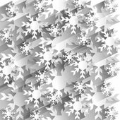Creative Abstract Snowflakes Background — Stock Vector