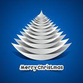 творческий абстрактный веселая рождественская открытка — Cтоковый вектор