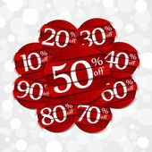 Creative Hard Discount Sale Badges — Stock Vector