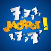 Creative Abstract Jackpot symbo — Stock Vector