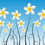 Abstract Decorative Frangipani Flowers — Stock Vector #38651687