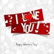 Happy Valentines Day card — Stock Vector #38801357