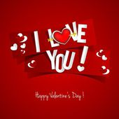 Happy Valentines Day card — Vettoriale Stock