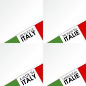 Made in Italy Badges — Stock Vector