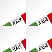 Réalisés dans les badges d'italie — Vecteur