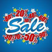 Hard Discount Sale — Stock Vector