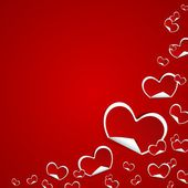 Valentines Day Symbols Hearts — Vettoriale Stock