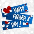 Happy Father's Day Greeting Card — Stock Vector