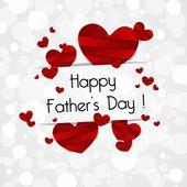 счастливый отец день поздравительных открыток — Cтоковый вектор