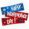 Happy USA Independence Day Card — Vecteur